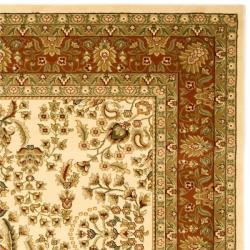 Lyndhurst Collection Oriental Ivory/ Rust Rug (4' x 6')
