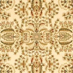 Lyndhurst Collection Oriental Ivory/ Rust Rug (8' x 11')
