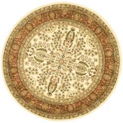 Safavieh Lyndhurst Collection Oriental Ivory/ Rust Rug (8' Round)