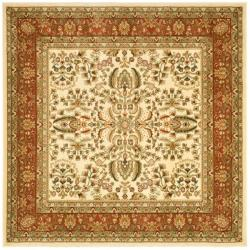 Lyndhurst Collection Oriental Ivory/ Rust Rug (8' Square)