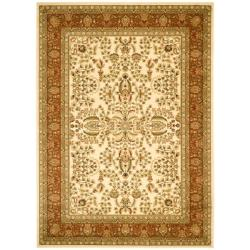 Lyndhurst Collection Oriental Ivory/ Rust Rug (9' x 12')