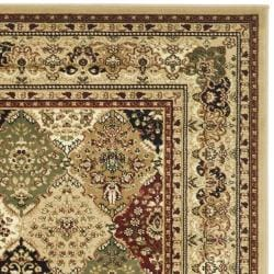 Lyndhurst Collection Multicolor/Beige Rug (8' x 11')