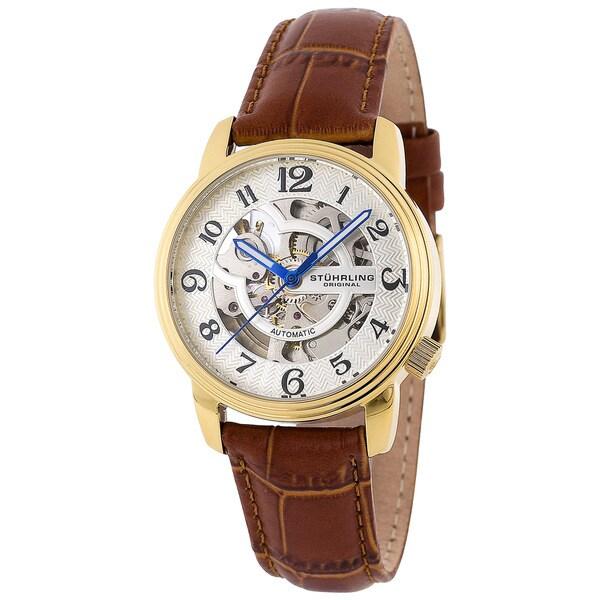 Stuhrling Original Women's 'Othello' Goldtone Automatic Watch