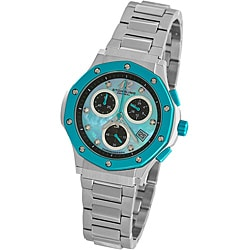 Stuhrling Original Women's Turquoise Cosmo Lady Chronograph Watch