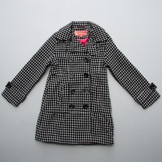 Dollhouse Big Girl's Black/ White Long Peacoat FINAL SALE