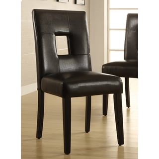Mendoza Black Keyhole Back Dining Chair