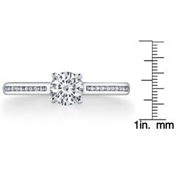 14k White Gold 3/4ct TDW Diamond Engagement Ring (G-H, SI1-SI2)
