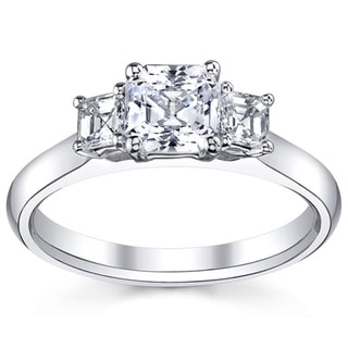 14k White Gold 1 1/2ct TDW Diamond 3-stone Engagement Ring (H-I, VS1-VS2)