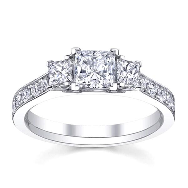 14k White Gold 1 1/2ct TDW Diamond Engagement Ring (H-I, SI1-SI2)