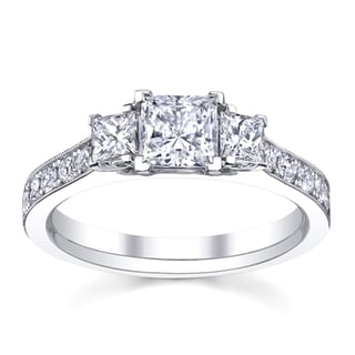 14k White Gold 1 1/2ct TDW Diamond Engagement Ring (H-I, SI1-SI2)