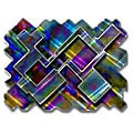 Ash Carl 'Psychedelic Labyrinth' Metal Wall Art