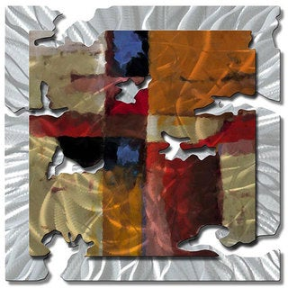 Ash Relic 'Orange Radiant Relic' Metal Wall Art