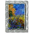 Pol Ledent 'Field of Blue' Metal Wall Art