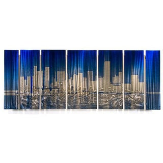 Ash Carl 'Cityscape' Metal Wall Art