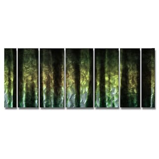 Ash Carl 'Seeking' 7-panel Abstract Metal Wall Art