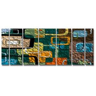Ash Carl 'Finding' 7-panel Abstract Metal Wall Art