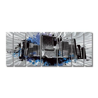 Ash Carl 'The Test' 7-panel Abstract Metal Wall Art