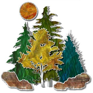 Stever Heriot 'Metal Forest' Metal Wall Art