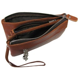 Amerileather Leather 'Candace' Clutch