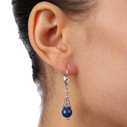 Charming Life Sterling Silver Blue Lapis Earrings