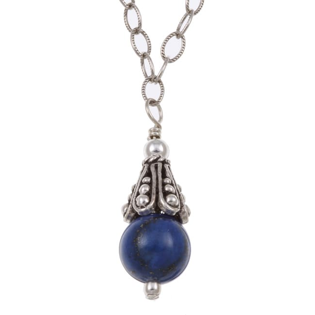 Charming Life Sterling Silver Blue Lapis Necklace