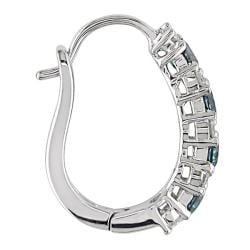 Miadora 10k White Gold 1/2ct TDW Blue and White Diamond Earrings (H-I, I2-I3)