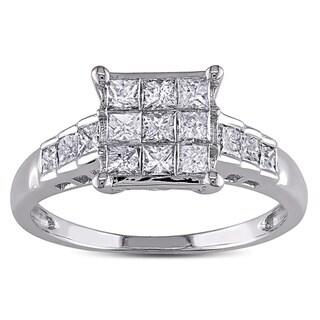 Miadora 14k White Gold 1ct TDW Diamond Ring (G-H, I1-I2)