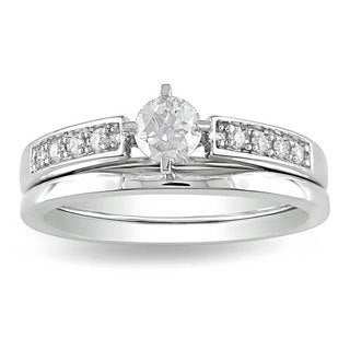 14k Gold 1/2ct TDW Diamond Bridal Ring Set (H-I, I2-I3)