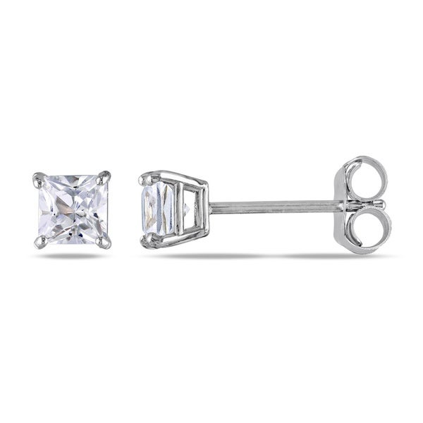 M by Miadora 10k Gold Created White Sapphire Earrings
