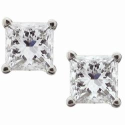 14k White Gold 1ct TDW Certified Diamond Stud Earrings (I-J, I1-I2)