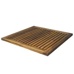 "Le Spa Premium 24"" Teak Bath and Shower Mat"