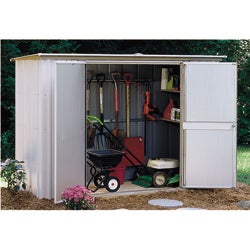 Arrow Steel Eggshell Garden Shed