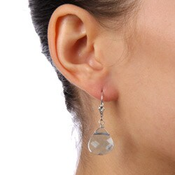 Charming Life Sterling Silver Blue Crystal Briolette Earrings