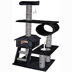 Go Pet Club 60-inch Condo House Cat Tree Pet Furniture