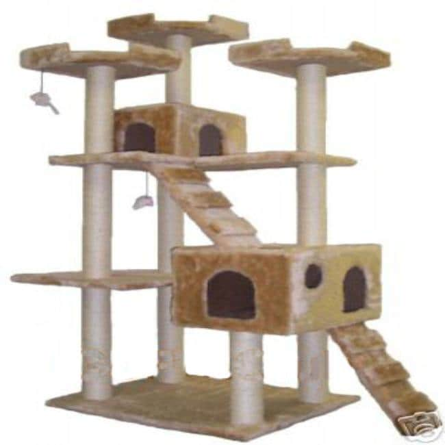 Go Pet Club Jungle Gym Cat Tree Ladders and Posts Pet Furniture