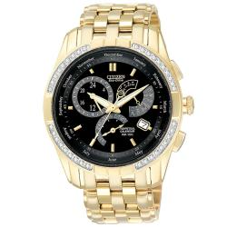 Citizen Men's Goldtone Diamond Eco-Drive Calibre 8700 Watch
