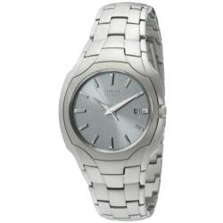 Citizen Men's Stainless Steel Silvertone Eco-Drive Watch