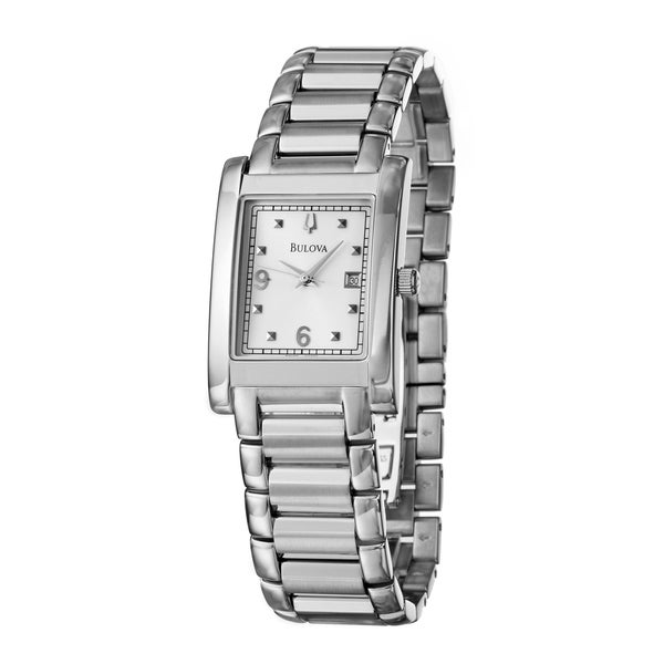 Bulova Men's 'Bracelet' Stainless Steel Quartz Date Watch