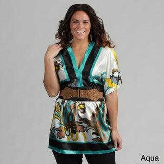 Ava Dee Women's Plus Size Belted Top