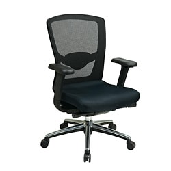 Office Star Black ProGrid High Back Chair