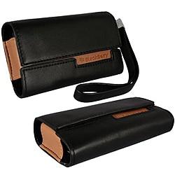 Black Leather Horizontal BlackBerry Curve Case