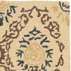 Handmade Traditions Beige Wool Rug (2' x 3')
