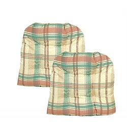 Dunham Plaid Kitchen/ Dining Chair Pads (Set of 2)