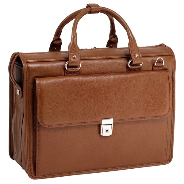 McKlein 'Gresham' Leather Litigator Laptop Brief