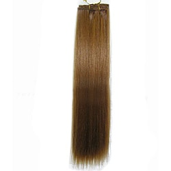 Merry Light Ten Streaks 14-inch Reddish Blonde Clip-in Straight Hair Extensions