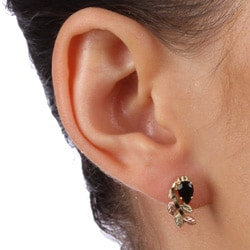 Black Hills Gold Black Onyx Earrings