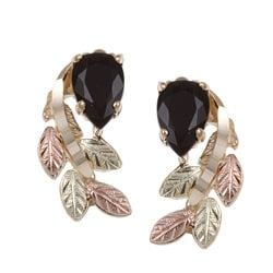 Black Hills Gold Black Onyx Earrings