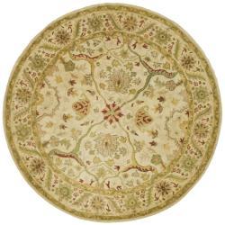 Safavieh Handmade Mahal Ivory Wool Rug (3'6 Round)