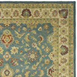 Safavieh Handmade Jaipur Blue/ Beige Wool Rug (7'6 x 9'6)