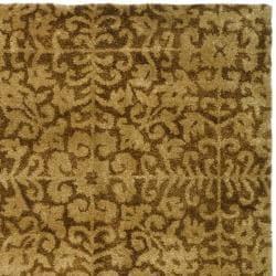Handmade Majestic Beige Wool Rug (9'6 x 13'6)
